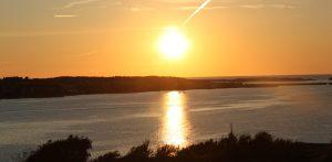 solnedgång i skärgården lilla turistbyrån